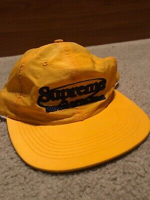 89f4de586c0 Supreme New York Survival Nylon 6 Panel Hat Cap Yellow Adjustable New