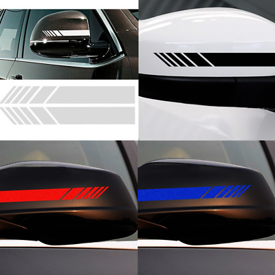 Universal Car Auto Decor Sticker Decal Racing Strips Side Rear View Mirror