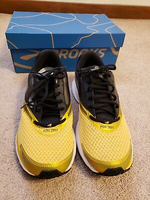 670acb18993 BROOKS RUNNING SHOES Launch 4  Limited Edition Black Gold Pittsburgh  Steelers