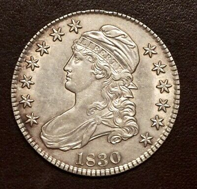 1830 Capped Bust Half Dollar.  Overton 113.  Small O.  Uncirculated.