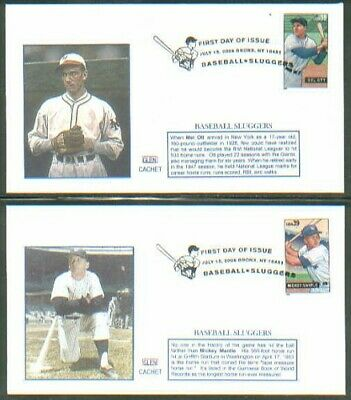 2006 BASEBALL SLUGGERS Sports~GLEN CACHET FDC set/4 COVER - ONLY 3 SETS IN STOCK
