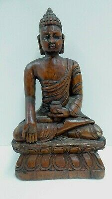 Antique Timber Carving Wooden Carved Buddha Early Icon Statue