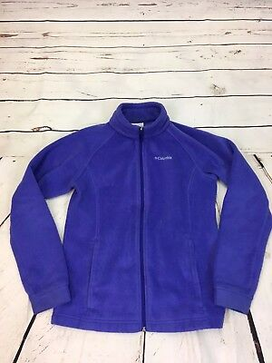 a5fe2ae8a489 COLUMBIA GIRLS YOUTH Size Large 14 16 Purple Full Zip Fleece Jacket ...
