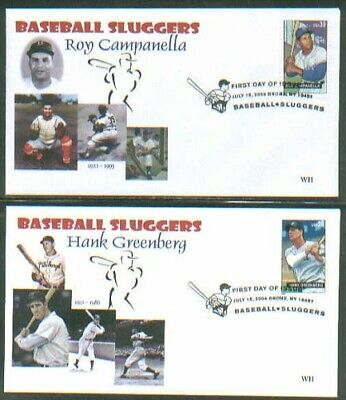 2006 BASEBALL SLUGGERS Sports~WII CACHET FDC set/4 COVER - ONLY 3 SETS IN STOCK