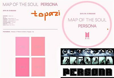 BTS New Album Map of the Soul Persona Full Set with Free Gift and Free Ship