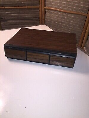 Vintage retro music cassette storage case three drawers box holds 36 tapes