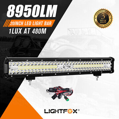 LIGHTFOX 20inch CREE LED Light Bar Spot Flood Combo Work Lamp 4WD Offroad