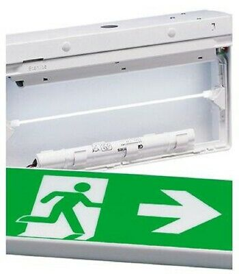 Stanilite LUMATEC COLD CATHODE PICTOGRAPH EXIT 7W 240V Maintained Double Sided