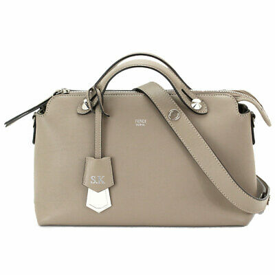 2eb4e025efae Auth FENDI BY THE WAY 2way Hand Shoulder Bag Leather Beige 8BL124 Purse  90067470