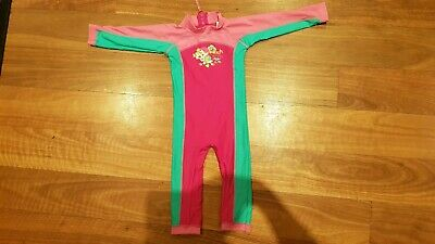 Full Body Swim Suit Bright Bots 12-18 Months As New