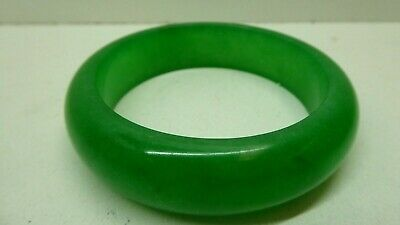 Old  Chinese Green Jade Bangle