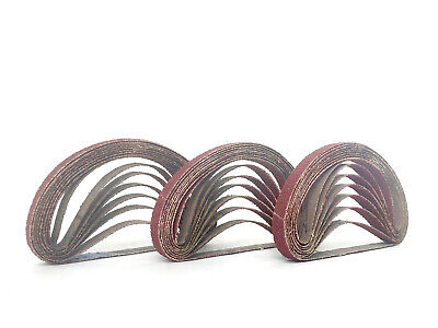 3/8 Inch X 13 Inch Aluminum Oxide Cloth Sanding Air File Belts(30 Pack, 80 Grit)