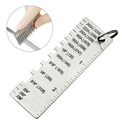 Wire Gauge Thickness Measuring Tool Wire/Sheet Metal Gage Measurement Plate Hot