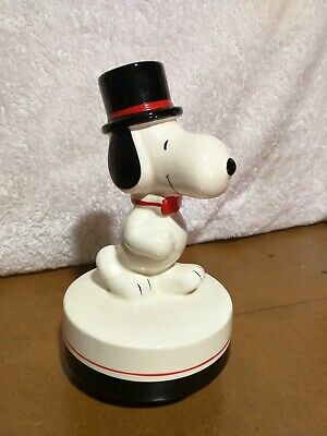 Snoopy/Peanuts 1979 WORKING Aviva music box - Top Hat/Cane/Bow Tie