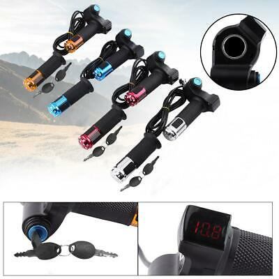 12-90V EBike Electric Scooter Throttle Grip Handlebar with LED Digital Meter GK