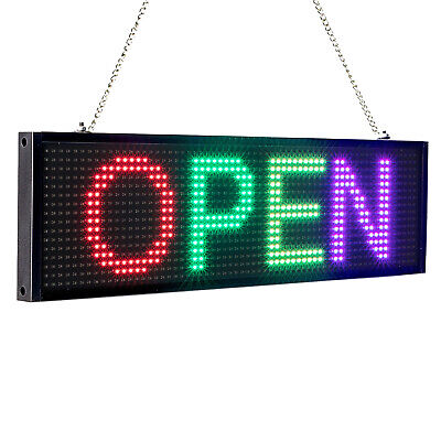 RGB P5mm LED OPEN Sign Programmable Scrolling Message Display Board for Store