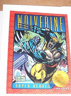 5c5d4d78631 X-MEN 1993 SERIES 2 WOLVERINE Hologram CARD H-X     AWESOME CARD ...