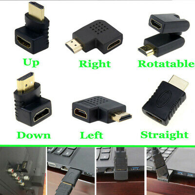 Black Mini HDMI Male to Female Extension Adapter Converter Micro Cable Connector