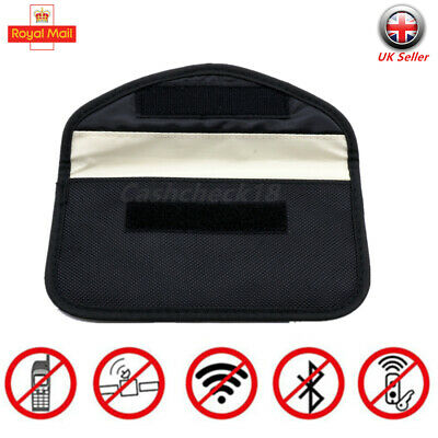 Car Key Signal Blocker Faraday Cage Fob Pouch Keyless RFID Blocking Bag Large UK