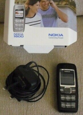 NOKIA 1600 BOXED MOBILE PHONE  with INSTRUCTIONS & CHARGER