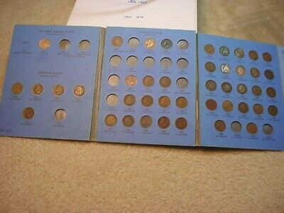 1859 To 1909  Indian Cent 42 Coin In Blue Whitman Folder!!     #7