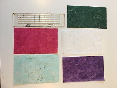Packet Of 5 Assorted Sheets Of Fine Mulberry Paper With Gold Fleck 17.5 X 10.5