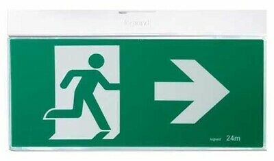 Legrand EMERGENCY LED LIGHT G2 EXIT SIGN Running Man, Slide Connect, Silver