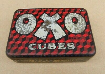 Vintage OXO 12 Cube Tin (Empty)