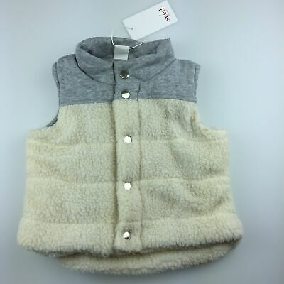 Boys size 2, Seed Heritage, cotton lined snuggly sherpa vest, NEW