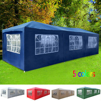 Waterproof Garden Gazebo 3x9m Outdoor Party Tent Marquee Awning Canopy Pavilion