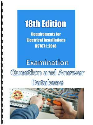 BS 7671:2018 18th Edition 650 Mock Exam Questions & Answers 125 Pages