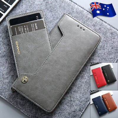 Samsung S20+ Plus Ultra Note 10 S10 S9/8 Magnetic Flip Leather Wallet Case Cover
