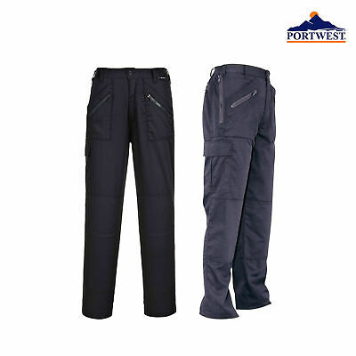 Portwest Ladies Action Safety Work Trousers S687 Black, Navy