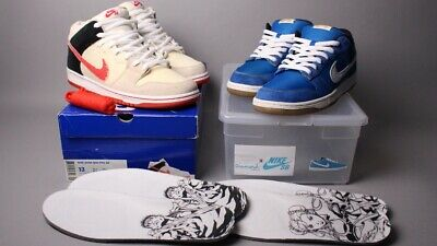"""quality design aa203 84809 Nike SB Dunk Mid Low Premium 2010 """"Street Fighter Pack""""Size 13"""