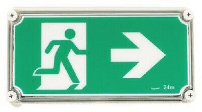 Legrand LED WEATHERPROOF EXIT SIGN LEG684652 2x1W Running Man Right, Green