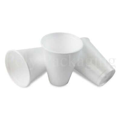 SMALL 7oz Polystyrene Insulated Foam Cups Disposable Poly Tea/Coffee Takeaway