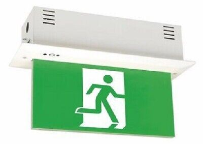 Legrand EMERGENCY EXIT SIGN LED EDGELIGHT LEG684420B With Gear Tray, Maintained