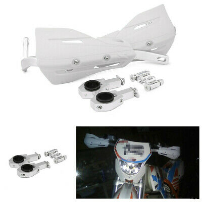 Aluminum Alloy Motorcycle 28mm 22mm Handlebar Protection Handguard Handle White