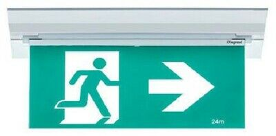 Legrand EMERGENCY EXIT SIGN LED EDGELIGHT LEG684740 3W 4RM Adjustable Diffuser