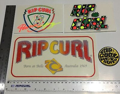 80's RIP CURL STICKERS SET OF 4  ALL ONE FOR PRICE $25 SURFING  90's THE SEARCH