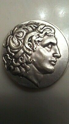 336-323 BC Silver Plated Drachm Ancient Alexander III The Great Greek Coin