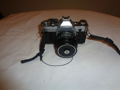 Canon AE-1 Program 35mm Film Manual Camera w/ 50mm F1.8 Lens Gently Used Cond.