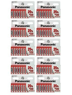 100 x PANASONIC AA DOUBLE A BATTERIES BATTERY 1.5V R6 NEW FREE POSTAGE