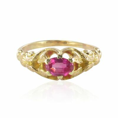 Ring antik Rubin 18kt Gelbgold romantisch Jugendstil Ring