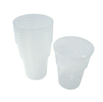 Half Pint Plastic Beer Glasses - x1000  12oz Party BBQ Garden Festival Pub Cup