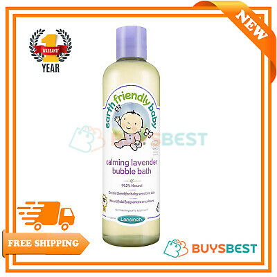 Earth Friendly Baby Children Bubble Bath Kids Calming Lavender 300ml Ecocert