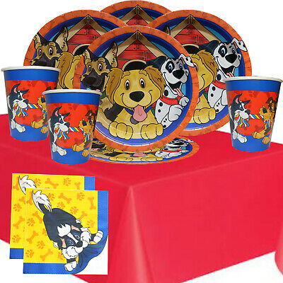 Puppy Party Kit 1R For 8 To 16 Children | Dog Party Tableware | Party Supplies