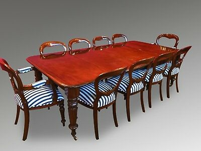 Grand Antique Victorian Cuban Mahogany Table Set Pro French Polished
