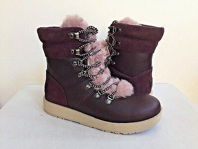 b785d02ae67 UGG VIKI WATERPROOF EXPOSED SHEARLING CHESTNUT LACE Boot US 11 / EU ...