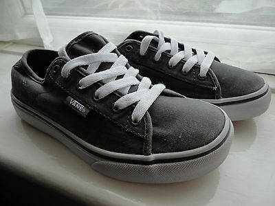 1fee23c199 Vans Grey   White Trainers Toddler Boys Girls UK 1 EUR 32.0 Kids Casual